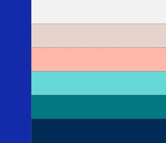 Таблица сочетания цветов. Какие цвета сочетаются с синим