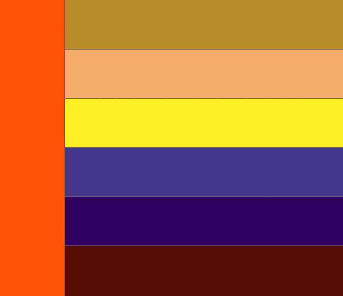 Таблица сочетания цветов. Какие цвета сочетаются с оранжевым