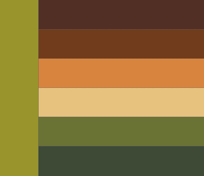 Таблица сочетания цветов. Какие цвета сочетаются с хаки