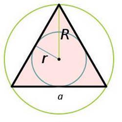 треугольник описанный окружностью